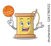 with basketball bobbin with... | Shutterstock .eps vector #1261780522