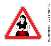 attention pms. caution... | Shutterstock .eps vector #1261785442