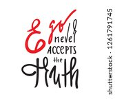 ego never accepts the truth  ... | Shutterstock .eps vector #1261791745