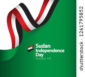 sudan independence day vector...   Shutterstock .eps vector #1261795852
