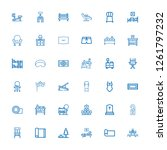 editable 36 rest icons for web... | Shutterstock .eps vector #1261797232