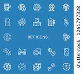 editable 22 bet icons for web... | Shutterstock .eps vector #1261797328