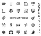 editable 22 component icons for ... | Shutterstock .eps vector #1261798588