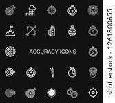 editable 22 accuracy icons for... | Shutterstock .eps vector #1261800655