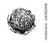 original ink drawing of a black ... | Shutterstock .eps vector #1261802008