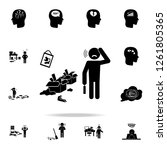mess at home icon. detailed set ...   Shutterstock .eps vector #1261805365