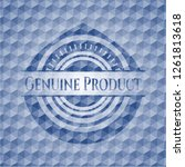 genuine product blue hexagon... | Shutterstock .eps vector #1261813618