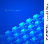 blockchain technology concept... | Shutterstock .eps vector #1261814512