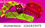 the colorful stage decoration... | Shutterstock .eps vector #1261815475
