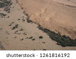 aerial views over the namib... | Shutterstock . vector #1261816192