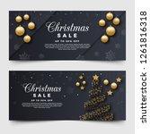 christmas sale banners | Shutterstock . vector #1261816318