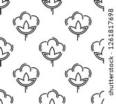 cotton flower icon seamless... | Shutterstock .eps vector #1261817698