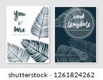 card templates leaf...   Shutterstock .eps vector #1261824262