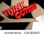 think outside the box concept... | Shutterstock . vector #126182645