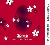 happy women's day poster ...   Shutterstock .eps vector #1261828972