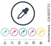 color picker flat color icons...   Shutterstock .eps vector #1261833712
