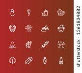 editable 16 pumpkin icons for... | Shutterstock .eps vector #1261834882