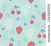 seamless pattern with... | Shutterstock .eps vector #1261835335