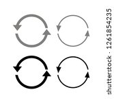 circular arrows in flat clean... | Shutterstock .eps vector #1261854235