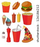 set of colourful cartoon fast... | Shutterstock .eps vector #126186212