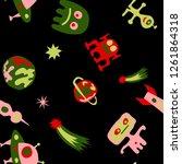 children sci fi background.... | Shutterstock .eps vector #1261864318