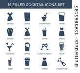16 cocktail icons. trendy... | Shutterstock .eps vector #1261865185