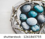 Easter Eggs Painted With Bright ...