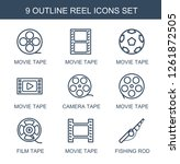 9 reel icons. trendy reel icons ... | Shutterstock .eps vector #1261872505