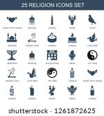 religion icons. trendy 25... | Shutterstock .eps vector #1261872625