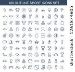 sport icons. trendy 100 sport... | Shutterstock .eps vector #1261874605