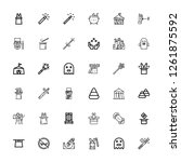 editable 36 trick icons for web ... | Shutterstock .eps vector #1261875592