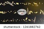 modern christmas tinsel... | Shutterstock .eps vector #1261882762