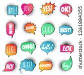 16 speech bubbles flat gradient ...   Shutterstock .eps vector #1261884355