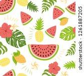 fashion tropics funny... | Shutterstock .eps vector #1261887205