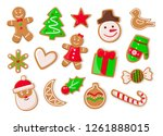 christmas holidays symbolic... | Shutterstock .eps vector #1261888015