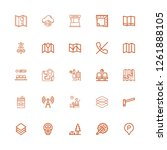 editable 25 area icons for web... | Shutterstock .eps vector #1261888105