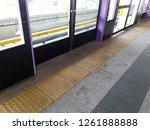 tactile tiles to navigate blind ... | Shutterstock . vector #1261888888