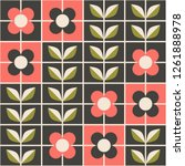 seamless retro pattern with... | Shutterstock .eps vector #1261888978