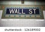 Wall Street Subway Sign Tile...
