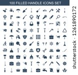 handle icons. trendy 100 handle ... | Shutterstock .eps vector #1261890172