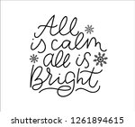 all is calm all is bright... | Shutterstock .eps vector #1261894615