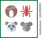 4 wildlife icon. vector... | Shutterstock .eps vector #1261900492