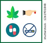 4 addiction icon. vector... | Shutterstock .eps vector #1261901848