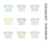 greek column icon white... | Shutterstock .eps vector #1261905322