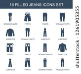 jeans icons. trendy 16 jeans...   Shutterstock .eps vector #1261905355