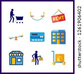 9 purchase icon. vector... | Shutterstock .eps vector #1261906402