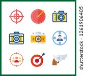 9 aiming icon. vector... | Shutterstock .eps vector #1261906405