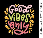lettering composition of good... | Shutterstock .eps vector #1261913395