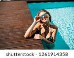 beautiful women relaxing at the ...   Shutterstock . vector #1261914358