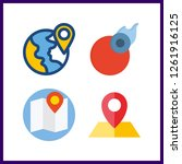 4 geography icon. vector... | Shutterstock .eps vector #1261916125